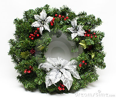 Winter Holiday Christmas Wreath