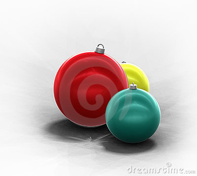 Winter holiday decoration Christmas tree ornaments