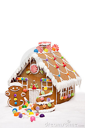 Winter Holiday Gingerbread house
