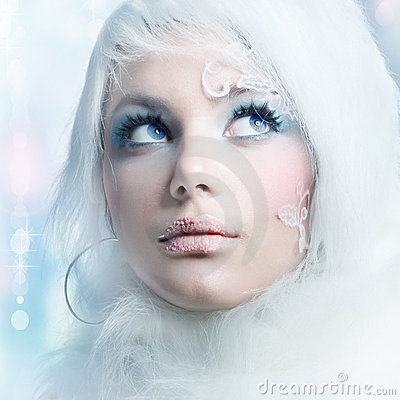 Free Winter Holidays Makeup Stock Photography - 17014252