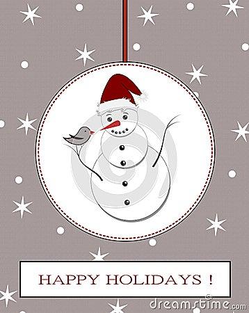 Free Winter Holidays Postcard Royalty Free Stock Photo - 35570625