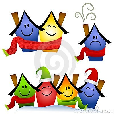 Winter Home Heating Clip Art