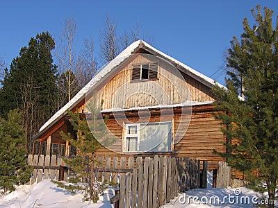 Winter house in Siberia