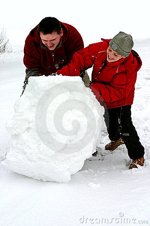 Free Winter - Huge Snowball Royalty Free Stock Photography - 63657