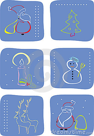 Winter icon set