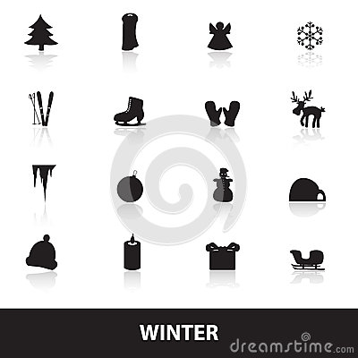 Winter icons eps10