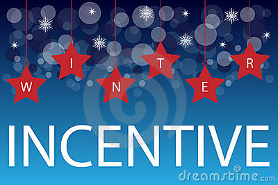 Winter incentive background