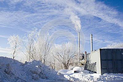 Winter industrial snow