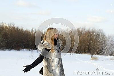 Winter joyful girl