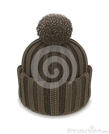 Winter knitted bubble hat
