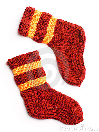 Free Winter Knitted Woolen Socks Stock Photography - 18336312