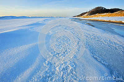 Winter, Lake Michigan Shoreline