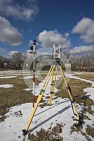 Winter land surveying