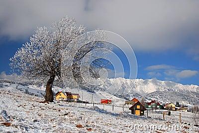 Winter landmark in Romania