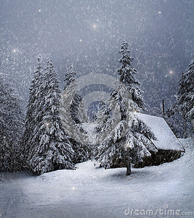 Free Winter Landscape Royalty Free Stock Image - 36994266