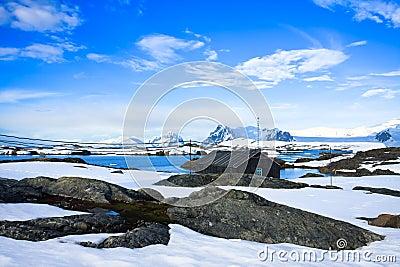 Winter landscape in Antarctica
