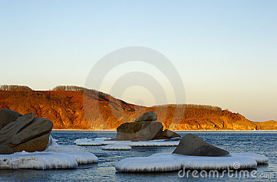 Winter landscape of a bay of Vladimir-6