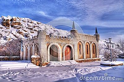 Winter landscape. HDR image
