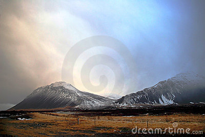 Winter landscape in Iceland