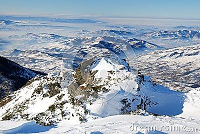 Winter landscape in Maramures