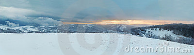 Winter landscape. Panorama.