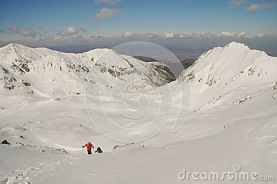 Winter landscape in Retezat mountain, Romania