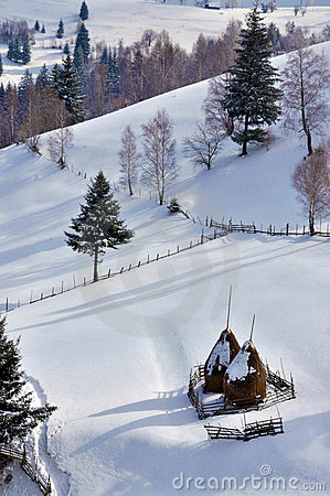 Winter Landscape in Romania