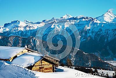 Winter landscape at Switzerland
