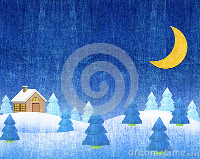 Winter landscapes night