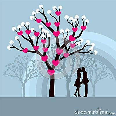 Winter Love Tree