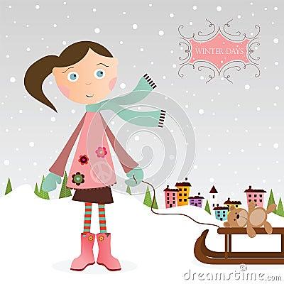 Winter-Mädchen