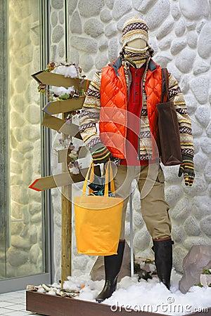 Winter mannequin