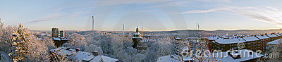 Winter morning panorama