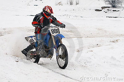 Winter motocross Editorial Stock Image