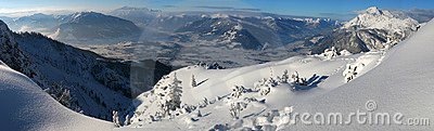 Winter Mountain Panorama Stock Photos - Image: 7169103
