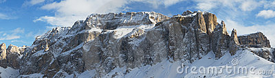 Winter Mountain Panorama Dolomites