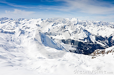 Winter mountains full of snow