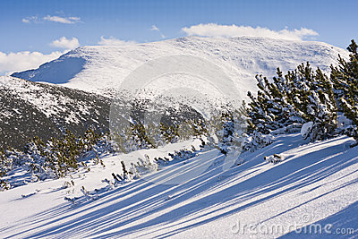 Winter mountains landscape. Bulgaria, Borovets