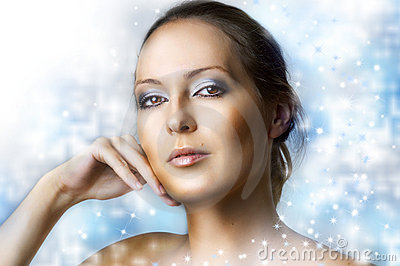 Winter natural beauty make up.