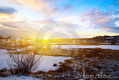 Winter north lake