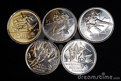 Winter Olympic coins Editorial Stock Photo