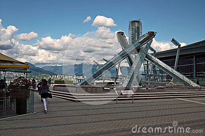 2010 Winter Olympics Torch, Vancouver BC Canada