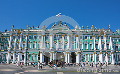 Winter Palace, Saint Petersburg Editorial Stock Image