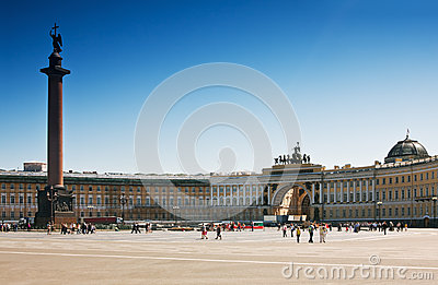 Winter Palace Square in St. Petersburg