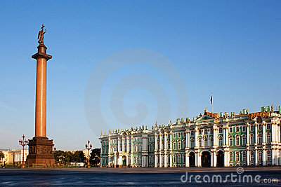 Winter Palace In St. Petersburg. Russia