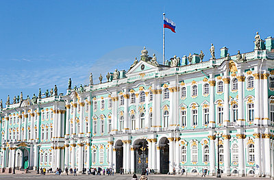Winter Palace, St.Petersburg, Russia Editorial Stock Photo
