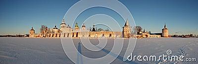 Winter panorama Kirillo-Belozersky monastery