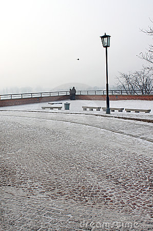 Winter park near Wawel castle