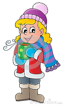 Winter person cartoon image 1
