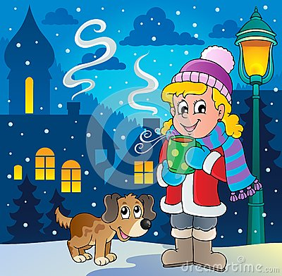 Winter person cartoon image 2